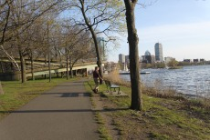 My husband and I were able to take a walk along the Charles River