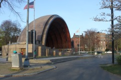 The Hatch Shell where the Boston Pops give their open air performances