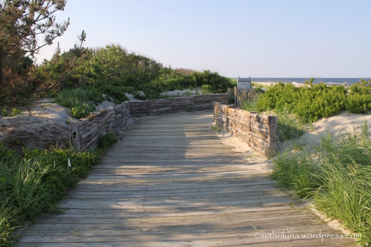 Boardwalk leading to Seven Presidents Beach, Long Branch, NJ
