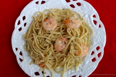 Shrimp! I love shrimp and linguine!