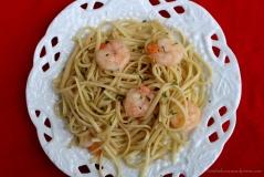 Shrimp! I love shrimp and linguine!