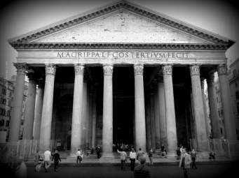 The portico with large granite Corinthian columns