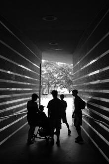 Entrance, Irish Hunger Memorial, New York, NY August 2014