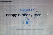 By the end of the day, over 100 people wished me happy birthday on Facebook