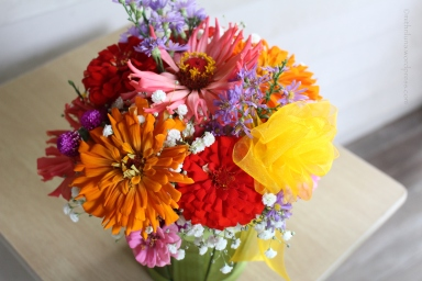 Bouquet of flowers from my garden