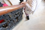 Beautifully carved stair railing - marble steps