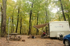 Camping at Jenny Jump State Forest, NJ